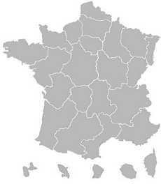 Carte de France par régions
